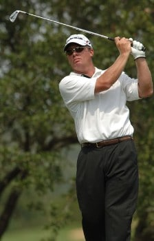 Roland Thatcher in action during the second round of the 2005 Valero Texas Open at La Cantera in at La Cantera Country Club in San Antonio, Texas September 23, 2005.Photo by Steve Grayson/WireImage.com