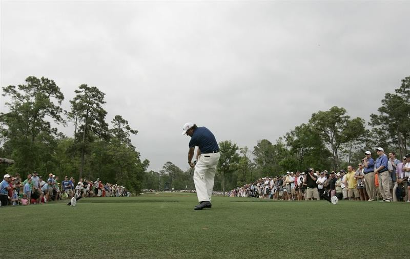 HUMBLE, TX - APRIL 03:  Phil Mickelson hits his tee shot on the ninth hole during the final round of the Shell Houston Open at Redstone Golf Club on April 3, 2011 in Humble, Texas.  (Photo by Michael Cohen/Getty Images)