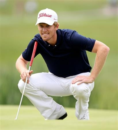 NEWPORT, WALES - JUNE 05:  Andrew Dodt of Australia during the third round of the Celtic Manor Wales Open on the 2010 Course at the Celtic Manor Resort on June 5, 2010 in Newport, Wales.  (Photo by Ross Kinnaird/Getty Images)
