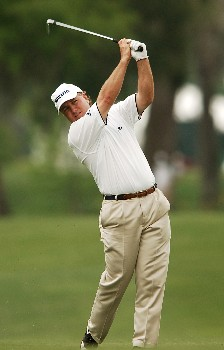 Danny Briggs hits from the 10th fairway during the first round of the 2005 Shell Houston Open at the Redstone Golf Club in Houston, Texas April 21, 2005.Photo by Steve Grayson/WireImage.com