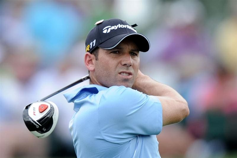 AUGUSTA, GA - APRIL 08:  Sergio Garcia of Spain hits his tee shot on the third hole during the second round of the 2011 Masters Tournament at Augusta National Golf Club on April 8, 2011 in Augusta, Georgia.  (Photo by Harry How/Getty Images)