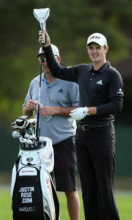 LA JOLLA, CA - JANUARY 26:  Justin Rose of Great Britain pulls his driver out of his bag during the Pro-Am at the Farmers Insurance Open at Torrey Pines on January 26, 2011 in La Jolla, California. (Photo by Donald Miralle/Getty Images)