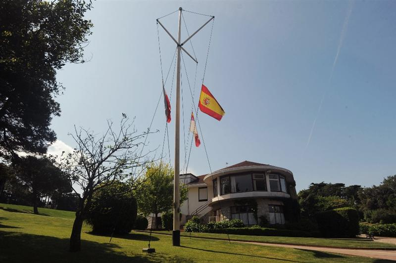 PEDRENA, SPAIN - MAY 10: Flags fly at half mast at Pedrena golf course in respect for the recent death of legendary Spanish golfer Seve Ballesteros on May 10, 2011 in Pedrena, Spain.  (Photo by Denis Doyle/Getty Images)