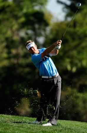 PALM HARBOR, FL - MARCH 20:  Brian Gay hits a shot on the 7th hole during the second round of the Transitions Championship at the Innisbrook Resort and Golf Club on March 20, 2009 in Palm Harbor, Florida.  (Photo by Sam Greenwood/Getty Images)