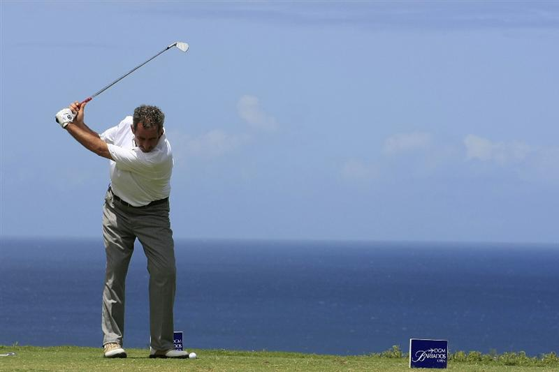 ROYAL WESTMORELAND, BARBADOS - MARCH 20:  Sam Torrance of Scotland in action during the final round of the DGM Barbados Open played at Royal Westmoreland on March 20, 2009 in Barbados, West Indies.  (Photo by Phil Inglis/Getty Images)