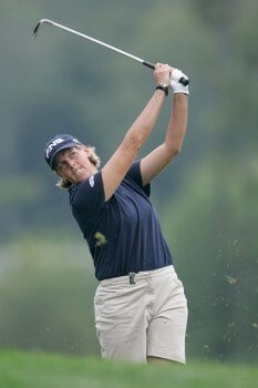 Wendy Ward in action during the second round of the 2005 Wendy's Championship for Children at Tartan Fields Golf Club in Dublin, Ohio on August 26, 2005.Photo by Hunter Martin/WireImage.com