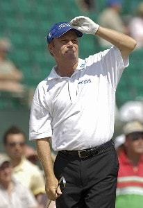 Jeff Sluman during practice prior to the 135th British Open Championship at Royal Liverpool Golf Club in Hoylake, Great Britain on July 19, 2006.Photo by Marc Feldman/WireImage.com