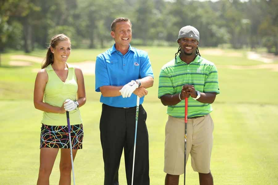 Michael Breed with Mallory Blackwelder and Will Lowery.