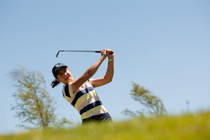 MORELIA, MEXICO - MAY 1: Lorena Ochoa of Mexico plays a tee shot during the third round of the Tres Marias Championship at the Tres Marias Country Club on May 1, 2010 in Morelia, Mexico. (Photo by Darren Carroll/Getty Images)