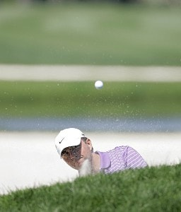 Bo Van Pelt hitting an eagle from the sand on the second green during the final round of THE PLAYERS Championship held at the TPC Stadium Course in Ponte Vedra Beach, Florida on March 26, 2006.Photo by Michael Cohen/WireImage.com