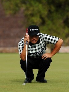 Shigeki Maruyama lines up a birdie putt on the 13th during the third round of the Frys.com Open on Saturday, October 14, 2006 at the TPC Summerland in Las Vegas, Nevada PGA TOUR - 2006 Frys.com Open - Third Round Photo by Marc Feldman/WireImage.com