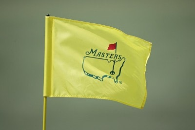 A pin flag flies in the breeze during the first round of the 2007 Masters at the Augusta National Golf Club in Augusta, Georgia, on April 5, 2007. The 2007 Masters - First RoundPhoto by Sam Greenwood/WireImage.com