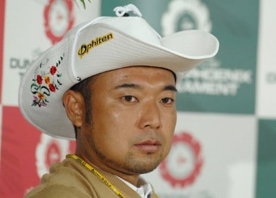 Shingo Katayama during a press conference at the Dunlop Phoenix Golf Tournament on November 16th, 2006. 2006 Dunlop Phoenix Tournament - First Round? - Press ConferencePhoto by Jun Sato/WireImage.com