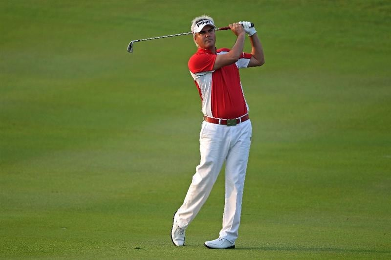 KUALA LUMPUR, MALAYSIA - MARCH 04:  Daniel Chopra of Sweden plays his second shot on the tenth hole during the first round of the Maybank Malaysian Open at the Kuala Lumpur Golf and Country Club on March 4, 2010 in Kuala Lumpur, Malaysia.  (Photo by Andrew Redington/Getty Images)