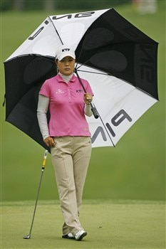 WILLIAMSBURG, VA - MAY 10: Meena Lee of Korea stands on the 8th green during the third round of the Michelob Ultra Open at Kingsmill Resort & Spa on May 10, 2008 in Williamsburg, Virginia. (Photo by Hunter Martin/Getty Images)