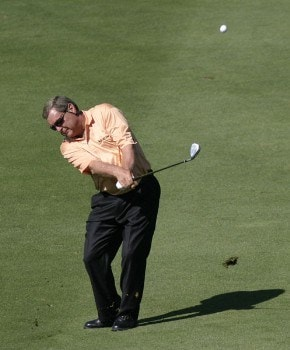Fuzzy Zoeller  during the first round of the 2005 JELD-WEN Tradition at The Reserve Vineyards and Golf Club, Thursday,  August 25, 2005.Photo by Allan Campbell/WireImage.com