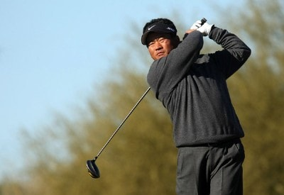 K.J. Choi of Korea hits his tee shot on the 15th hole during the first round of the FBR Open on January 31, 2008 at TPC of Scottsdale in Scottdsdale, Arizona. PGA TOUR - 2008 FBR Open - Round OnePhoto by Stephen Dunn/Getty Images
