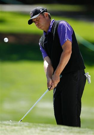 CHARLOTTE, NC - APRIL 29:  Bo Van Pelt hits a pitch shot on the fourth hole during the first round of the 2010 Quail Hollow Championship at the Quail Hollow Club on April 29, 2010 in Charlotte, North Carolina.  (Photo by Scott Halleran/Getty Images)
