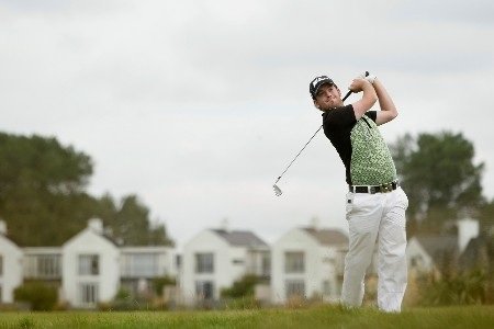 CHRISTCHURCH, NEW ZEALAND - FEBRUARY 14: Josh Geary of New Zealand hits off the fairway during day one of the NZPGA Championship at Clearwater Golf Club on February 14, 2008 in Christchurch, New Zealand.(Photo by Robert Cianflone/Getty Images)