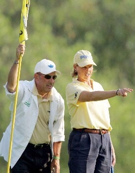 Action photo of Wendy Ward of USA second place during day 2 of the LPGA Corona Morelia Championship 2005 held at the Tres Marias Golf Club of Morelia, Mexico. on April 22 , 2005Photo by Mexsport/WireImage.com