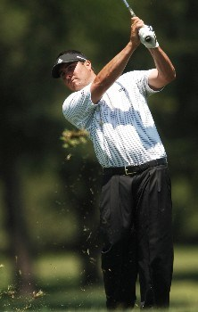 Pat Perez hits from the siuxth green during the third round of the EDS Byron Nelson Championship at TPC Los Colinas in Los Colinas, Texas May 14, 2005.Photo by Steve Grayson/WireImage.com