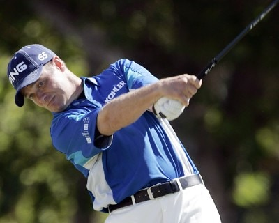 Ted Purdy drives on the 1st tee during the final round of the Sony Open in Hawaii held at Waialae Country Club in Honolulu, Hawaii, on January 14, 2007.