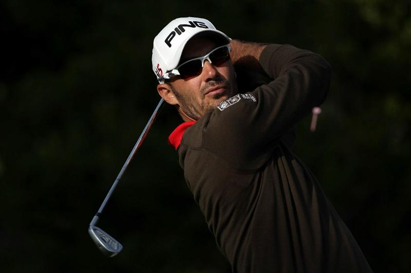 PEBBLE BEACH, CA - JUNE 19:  Gregory Havret of France hits his tee shot on the 16th hole during the third round of the 110th U.S. Open at Pebble Beach Golf Links on June 19, 2010 in Pebble Beach, California.  (Photo by Andrew Redington/Getty Images)