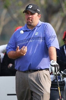 SHANGHAI, CHINA - NOVEMBER 10: Kevin Stadler of USA waits to play a shot during Day 3 of the HSBC Champions at the Sheshan Golf Club on November 10, 2007 in Shanghai, China.  (Photo by Ross Kinnaird/Getty Images)