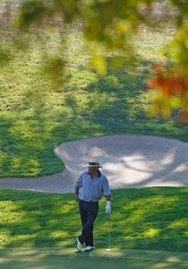 Jim Thorpe waits on the 7th green during the fourth round of the Charles Schwab Cup Championship at Sonoma Golf Club on October 28, 2007, in Sonoma, California. Champions Tour - 2007 Charles Schwab Cup Championship - Final RoundPhoto by Chris Condon/PGA TOUR/WireImage.com
