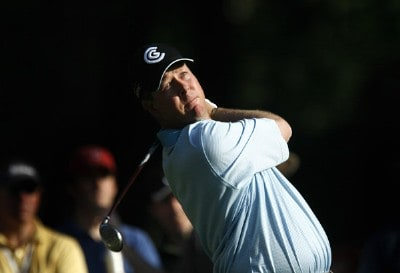 Glen Day hits from the ninth tee during the second round of the 2007 Verizon Heritage Classic at Harbour Town Golf Links in Hilton Head Island on April 13, 2007 in Hilton Head, South Carolina. PGA TOUR - 2007 Verizon Heritage - Second RoundPhoto by Steve Grayson/WireImage.com