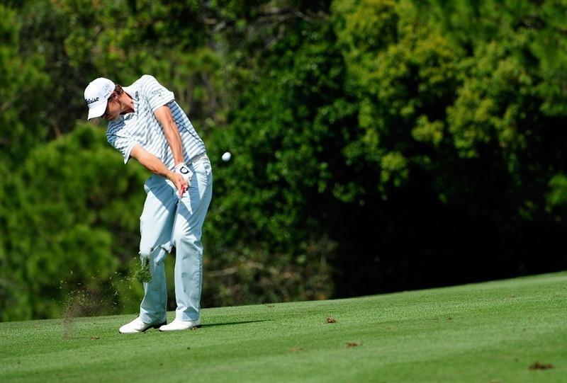 PALM HARBOR, FL - MARCH 21:  Nick Watney plays a shot on the 7th hole during the third round of the Transitions Championship at the Innisbrook Resort and Golf Club on March 21, 2009 in Palm Harbor, Florida.  (Photo by Sam Greenwood/Getty Images)