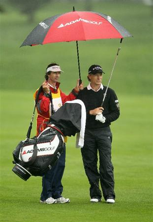 SAN FRANCISCO - NOVEMBER 07:  Bernhard Langer of Germany waits to hit his second shot on the 6th hole during the final round of the Charles Schwab Cup Championship at Harding Park Golf Course on November 7, 2010 in San Francisco, California.  (Photo by Ezra Shaw/Getty Images)