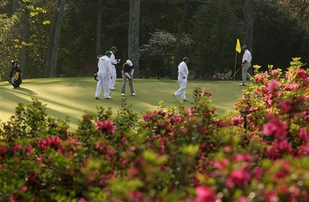AUGUSTA, GA - APRIL 09:  Paul Casey of England hits a putt during the third day of practice prior to the start of the 2008 Masters Tournament at Augusta National Golf Club on April 9, 2008 in Augusta, Georgia.  (Photo by Harry How/Getty Images)