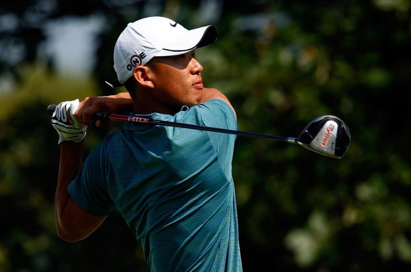 LEMONT, IL - SEPTEMBER 11:  Anthony Kim hits his tee shot on the 15th hole during the second round of the BMW Championship held at Cog Hill Golf & CC on September 11, 2009 in Lemont, Illinois.  (Photo by Scott Halleran/Getty Images)
