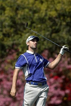 WINDERMERE, FL - MARCH 15:  Oliver Wilson of Northern Ireland and The Lake Nona Club on the 7th tee during the second day of the 2011 Tavistock Cup at Isleworth Golf and Country Club on March 15, 2011 in Windermere, Florida.  (Photo by David Cannon/Getty Images)