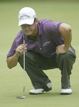 Jeff Quinney in action during the first round of the 2005 National Mining Association's Pete Dye Classic at Pete Dye Golf Club in Bridgeport, West Virginia on Thursday, July 7, 2005.Photo by Hunter Martin/WireImage.com