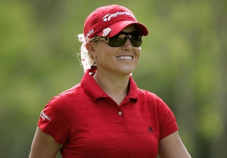 KAHUKU, HI - FEBRUARY 14:  Natalie Gulbis smiles while on the 15th hole during the first round of  the SBS Open on February 14, 2008  at the Turtle Bay Resort in Kahuku, Hawaii.  (Photo by Andy Lyons/Getty Images)