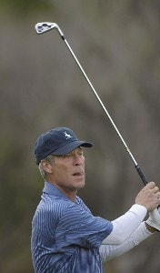Ben Crenshaw hits his tees shot on the par three 3rd hole  during the final round of the 2006 AT&T Classic on Sunday, March 12, 2006 at  Valencia Country Club in Valencia, CaliforniaPhoto by Marc Feldman/WireImage.com
