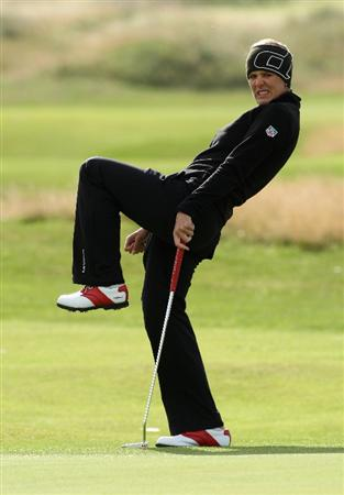 LYTHAM ST ANNES, UNITED KINGDOM - JULY 30:  Marianne Skarpnord of Norway reacts to a birdie attempt on the 4th green during the first round of the 2009 Ricoh Women's British Open Championship held at Royal Lytham St Annes Golf Club, on July 30, 2009 in  Lytham St Annes, England. (Photo by David Cannon/Getty Images)