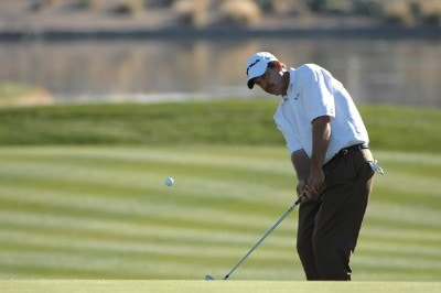 Bart Bryant hits his approach chip to the 18th green during the final round of the FBR Open held at the TPC Scottsdale, February 4, 2007 in Scottsdale, Arizona. PGA TOUR - 2007 FBR Open - Final RoundPhoto by Marc Feldman/WireImage.com