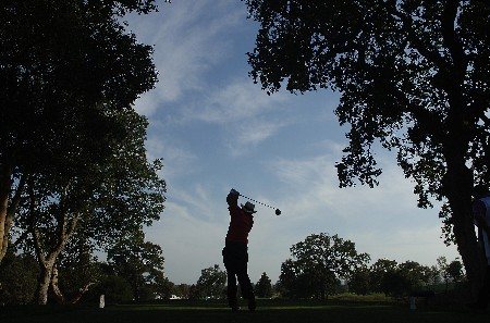 SONOMA, CA - OCTOBER 27:  Jim Thorpe tees off the 10th hole during the third round of the Charles Schwab Championship Cup at the Sonoma Golf Club October 27, 2007 in Sonoma, California.  (Photo by Marc Feldman/Getty Images)