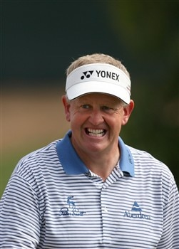 SAN DIEGO - JUNE 13:  Colin Montgomerie of Scotland grimaces during the second round of the 108th U.S. Open at the Torrey Pines Golf Course (South Course) on June 13, 2008 in San Diego, California.  (Photo by Ross Kinnaird/Getty Images)