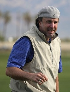 Actor Kevin Nealon jokes on the driving range during the first round of the 49th Bob Hope Chrysler Classic at the Silverrock Resort on January 16, 2008 in La Quinta, California. PGA TOUR - 2008 Bob Hope Chrysler Classic - Round OnePhoto by Harry How/WireImage.com
