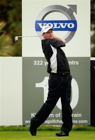BAHRAIN, BAHRAIN - JANUARY 26:  Anders Hansen of Denmark in action during the Pro Am prior to the start of the Volvo Golf Champions at The Royal Golf Club on January 26, 2011 in Bahrain, Bahrain.  (Photo by Andrew Redington/Getty Images)