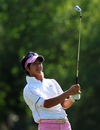 PALM HARBOR, FL - MARCH 20:  Ryo Ishikawa of Japan plays a shot on the 17th hole during the second round of the Transitions Championship at the Innisbrook Resort and Golf Club on March 20, 2009 in Palm Harbor, Florida.  (Photo by Sam Greenwood/Getty Images)