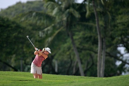 KAPOLEI, HI - FEBRUARY 22:  Brittany Lincicome hits her second shot on the 10th hole during the second round of  the Fields Open on February 22, 2008  at the Ko Olina Golf Club in Kapolei, Hawaii.  (Photo by Andy Lyons/Getty Images)