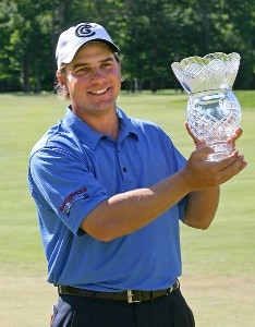 Roland Thatcher after winning  the fourth and final round of the Peek'n Peak Classic held on the Upper Course at Peek'n Peak Resort in Findley Lake, New York, on July 1, 2007. Nationwide Tour - 2007 Peek 'n Peak Classic - Final RoundPhoto by Jim Rogash/WireImage.com