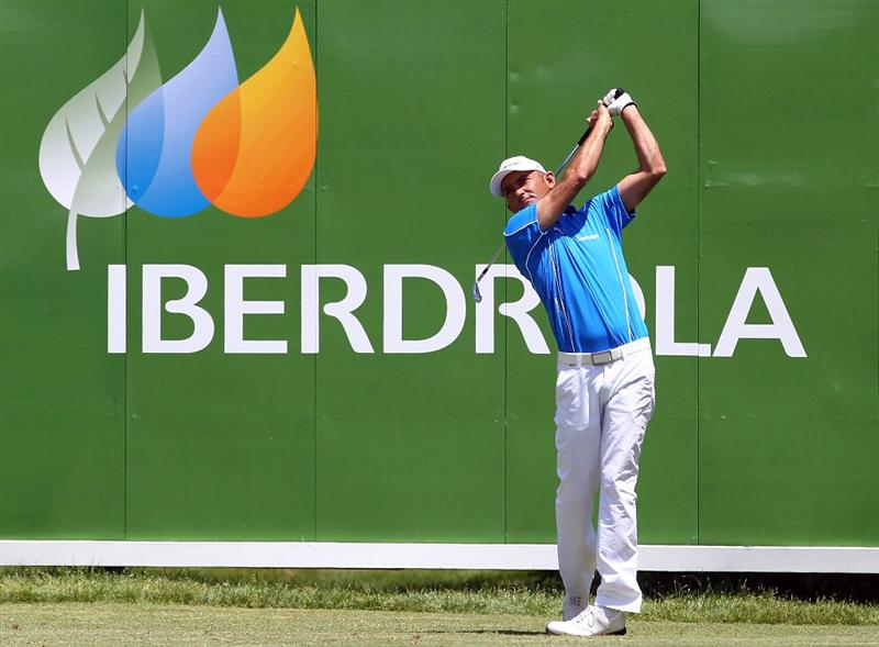MALLORCA, SPAIN - MAY 12:  Markus Brier of Austria tees off during day one of the Iberdrola Open at Pula Golf Club on May 12, 2011 in Mallorca, Spain.  (Photo by Julian Finney/Getty Images)