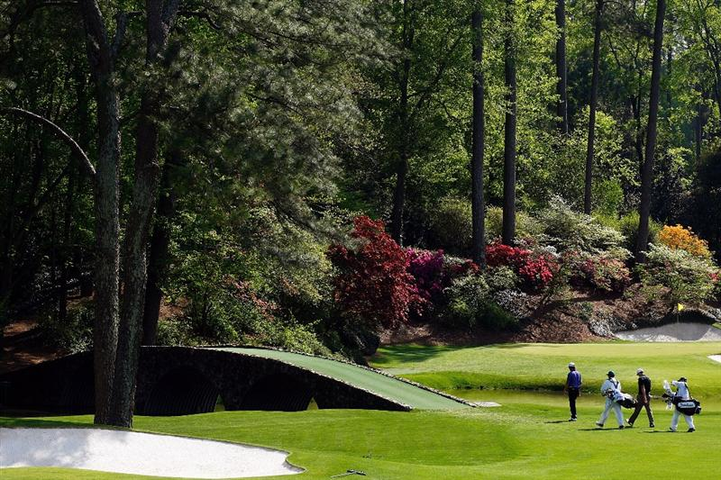 AUGUSTA, GA - APRIL 11:  Kenny Perry and Chad Campbell walk to the 13th green during the third round of the 2009 Masters Tournament at Augusta National Golf Club on April 11, 2009 in Augusta, Georgia.  (Photo by Jamie Squire/Getty Images)