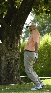 Brenden Pappas reacts to a missed putt during the third round of the Rheem Classic presented by Times Record held at Hardscrabble Country Club in Fort Smith, AR, on May 13, 2006.Photo by Steve Levin/WireImage.com